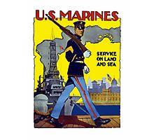 U.S. Marines -- Service On Land And Sea Photographic Print
