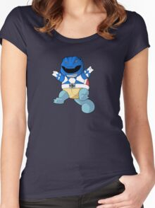 Blue Ever Evolvin PokeRanger Women's Fitted Scoop T-Shirt