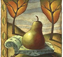 Pear lounging on chaise by Tim Lee