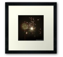 Fire! Happy New Year! Framed Print