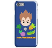 Vegeta - 100percent vegetarian iPhone Case/Skin