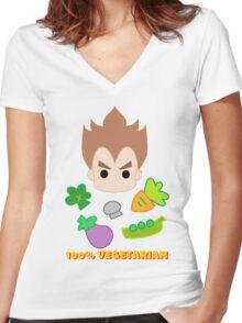 Vegeta - 100percent vegetarian Women's Fitted V-Neck T-Shirt