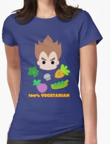 Vegeta - 100percent vegetarian Womens Fitted T-Shirt