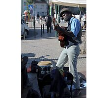 street guitar performance, Lisbon, Portugal Photographic Print