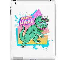 Party Hard Dinosaur II - Triceratops with glowstick hoops iPad Case/Skin