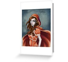Little red hood riding Greeting Card