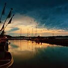 Thiessow Harbour at Dusk by Kasia-D