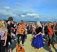 Fun at the beach , Lyme Dorset UK by lynn carter