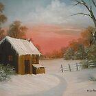 Cabin in the Snow by Vivian Eagleson