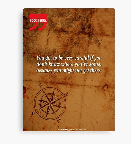 Going Nowhere (Quotation) Canvas Print