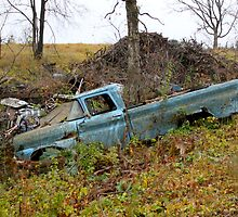 Abandoned Blue Chevy by A. Kakuk
