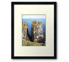 May Isle Stacks Framed Print