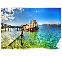 Steam Boat Ferry at Knysna Poster