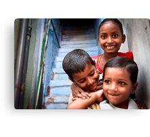 Indian Children Canvas Print