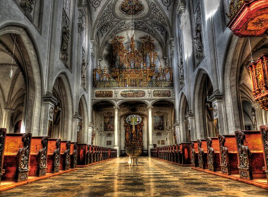 Pipe Organ - Lansberg Am Lech cathedral by Luke Griffin