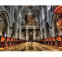 Pipe Organ - Lansberg Am Lech cathedral Photographic Print