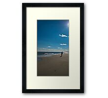 Solitude on the beach Framed Print