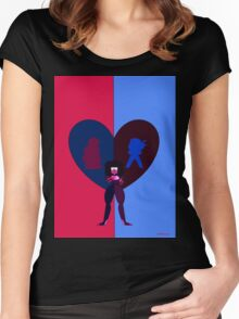 Steven Universe - Ruby, Sapphire, and Garnet Women's Fitted Scoop T-Shirt