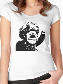 Christmas Heat Miser Stencil Women's Fitted Scoop T-Shirt