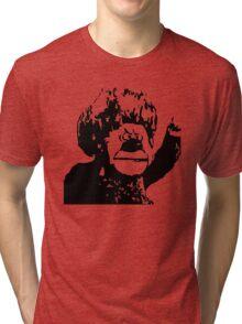 Christmas Heat Miser Stencil Tri-blend T-Shirt