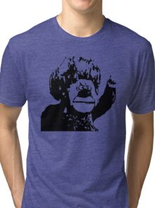 Christmas Heat Miser Stencil Tri-blend T-Shirt
