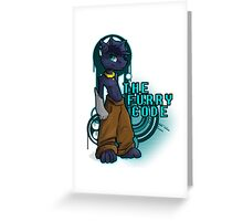 The Furry Code Graffiti Graphic Greeting Card
