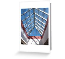 View from below the transparent roof of the glass Greeting Card