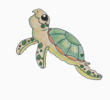 Swimming Sea Turtle by bymissrach