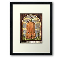 Pumpkin House Framed Print