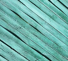 Background from green wooden boards by vladromensky