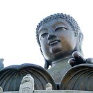 Buddha in Lantau Island Hong Kong by Richie Wessen