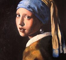 The Girl with a Pearl Earring... Contemporary by Emilie Dionne