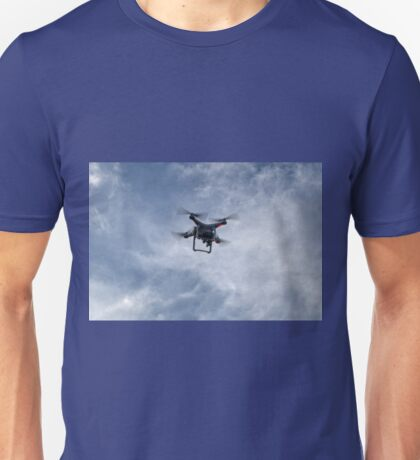 Out of the Blue a Drone appears.. Unisex T-Shirt
