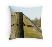Corner Post of Ranch Fence Throw Pillow