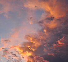 Fire in the Sky - A Cloud Study by Barbara Burkhardt
