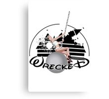 Miley Wrecked Disney Canvas Print