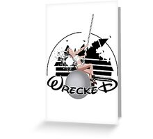 Miley Wrecked Disney Greeting Card
