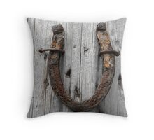 Lucky Horseshoe Throw Pillow