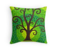 unfurling tree of lushiousness Throw Pillow