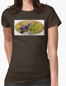River Otter  Womens Fitted T-Shirt