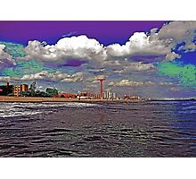 CONEY ISLAND BEACH AND AMUSEMENT PARK Photographic Print
