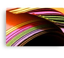 Coloured Paper Canvas Print