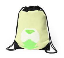 Pixel Minimalist Peridot Drawstring Bag