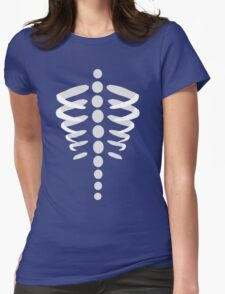 Skeleton Rib Cage Womens Fitted T-Shirt