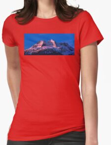 Winter Sunrise on MT Begbie  Womens Fitted T-Shirt