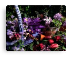 Blue Basket Canvas Print