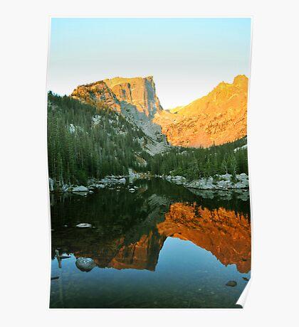 Alpenglow on Flattop Mountain Poster
