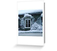 Freezing house Greeting Card