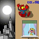 "Rick the chick ""SPIDER CHICK"" by CLAUDIO COSTA"