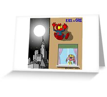 """Rick the chick """"SPIDER CHICK"""" Greeting Card"""